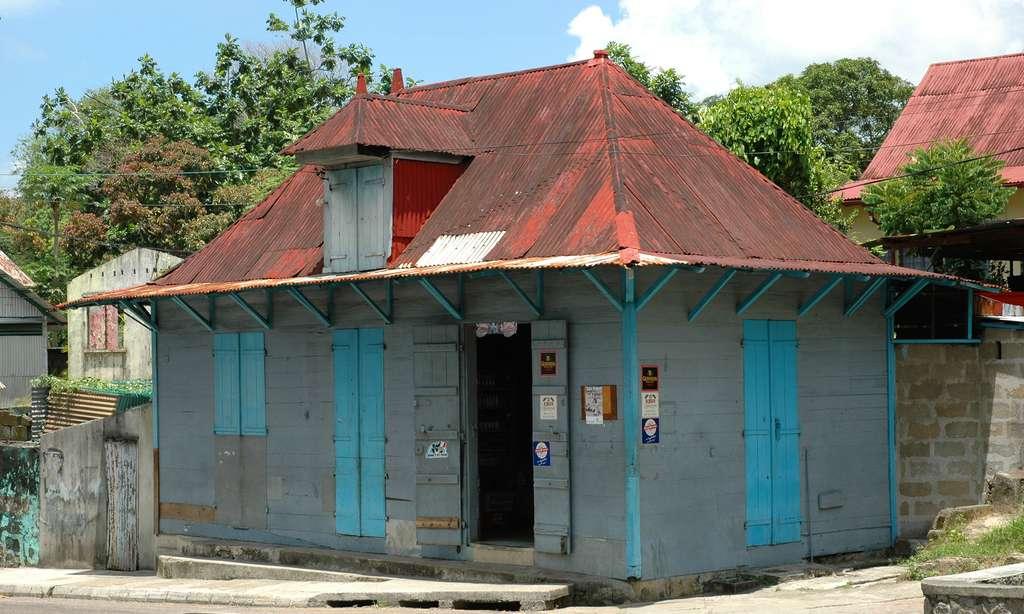 Maison traditionnelle seychelloise dans la capitale, Victoria