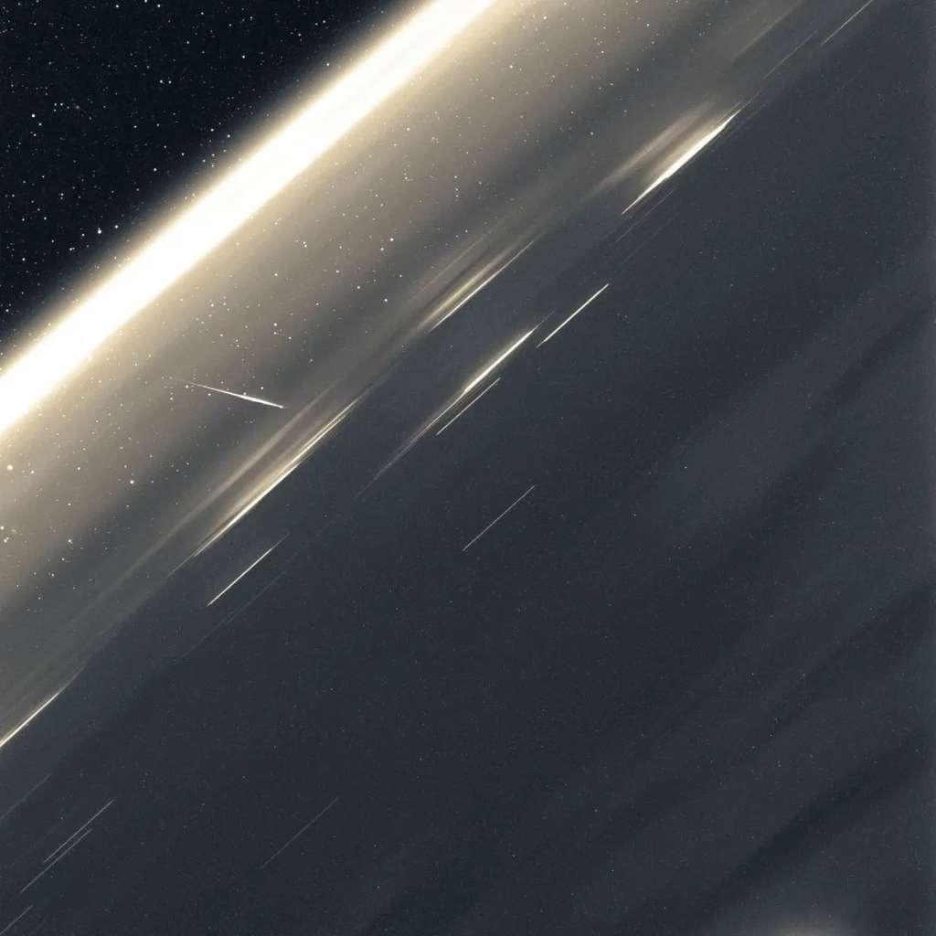 Une météorite plongeant dans l'atmosphère terrestre le 9 août au-dessus de l'Atlantique nord. Probablement une Perséide. © CNSA