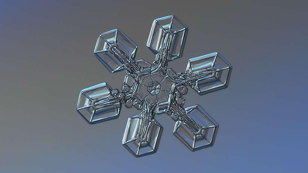 Flocons de neige et macrophotographie