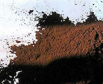Terre d'ombre brûlée. © DR