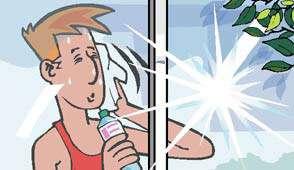En été, sans climatisation, les conditions de température peuvent devenir pénibles dans les bâtiments fortement vitrés. © Ademe