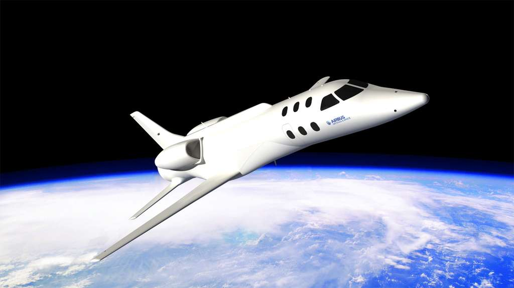 Le Spaceplane d'Airbus Espace dans sa dernière configuration. On remarque la disparition de l'empennage en canard et le nouveau dessin des ailes. © Airbus Espace