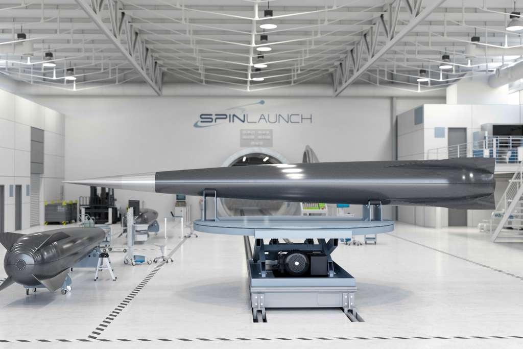 Accéléré grâce à la force centrifuge, le lanceur de SpinLaunch ne nécessite pas de carburant pour atteindre une très haute altitude. © SpinLaunch