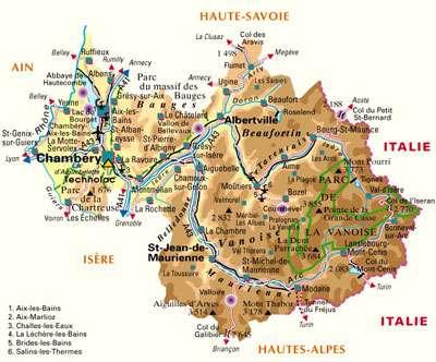 Carte de localisation de Bourg-Saint-Maurice. © DR