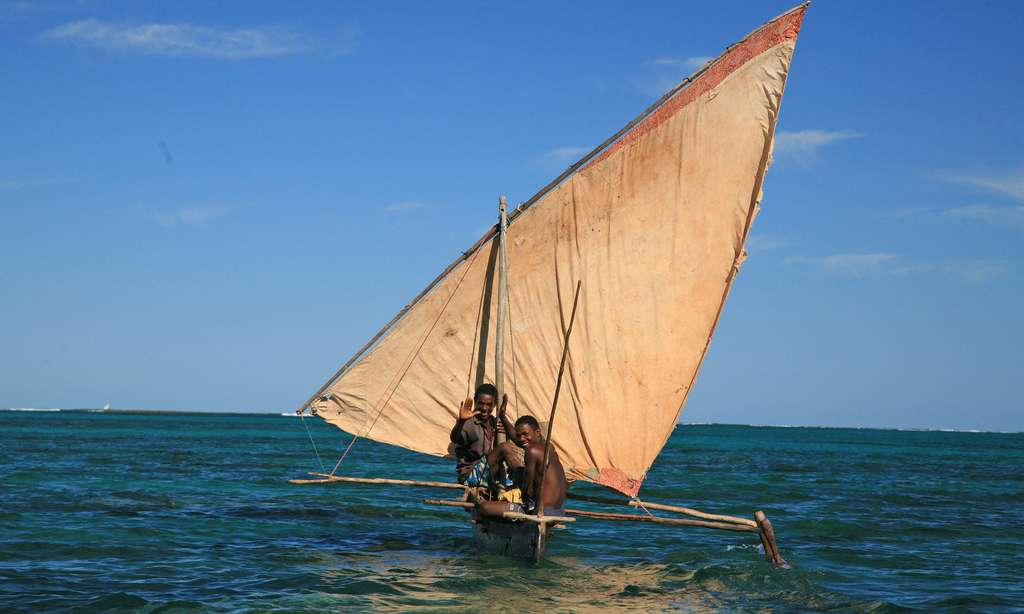 Pirogue à voile, nord-ouest de Madagascar