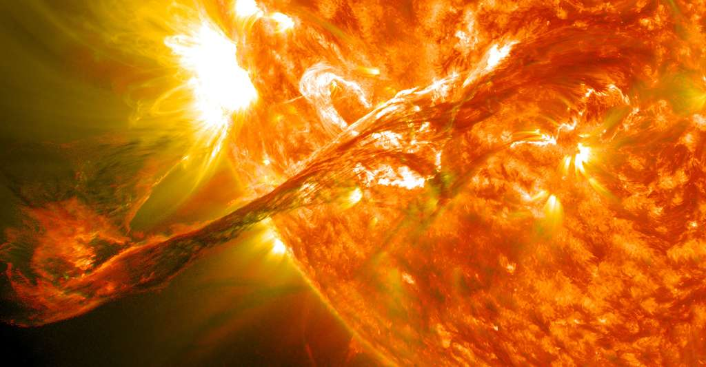 Eruptions solaires. © NASA Goddard Space Flight Center, Wikimedia commons, CC by 2.0
