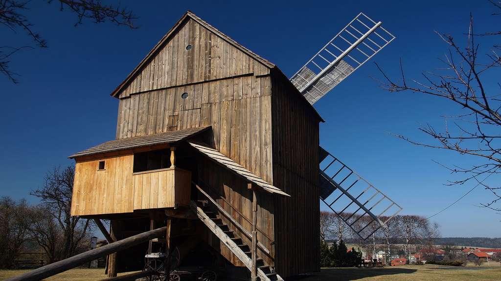 Le moulin à vent de Partutovice, République Tchèque