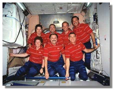 Ce pourrait être un équipage en partance pour Mars… Photo prise dans la Station Spatiale. Crédits : NASA
