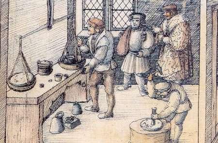 Heinrich Groff, Les lingots d'argent. © Domaine public