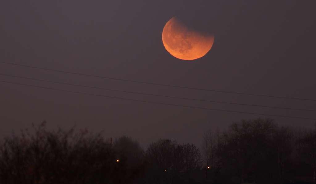 L'éclipse de Lune du 10 décembre. © Sylvain62