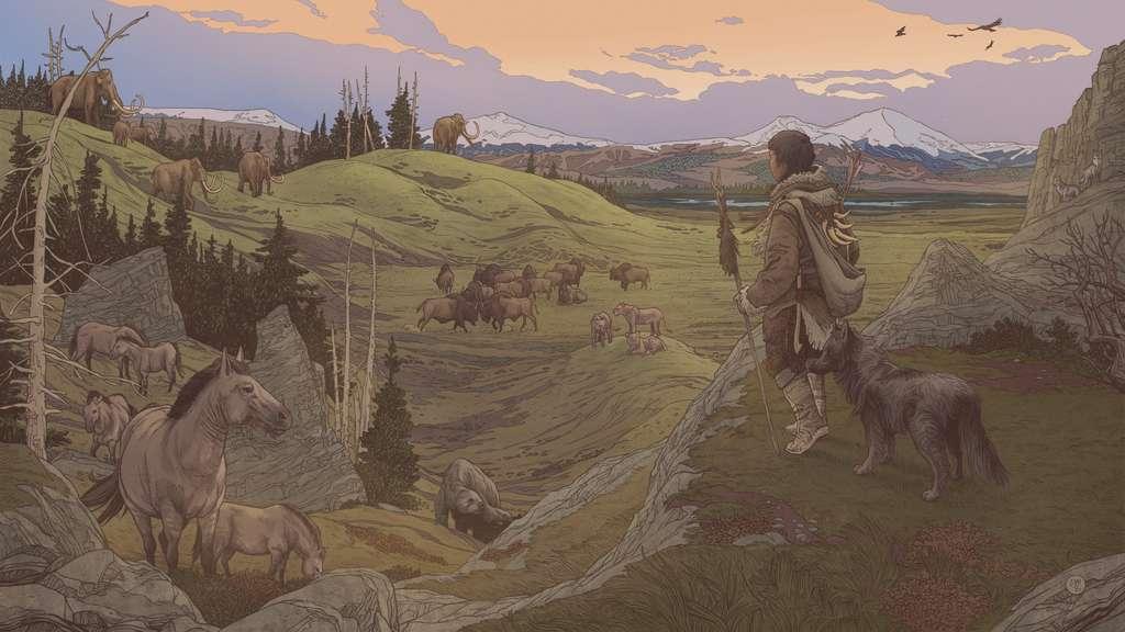 Les premiers humains arrivés en Amérique étaient accompagnés de leur chien. © Ettore Mazza