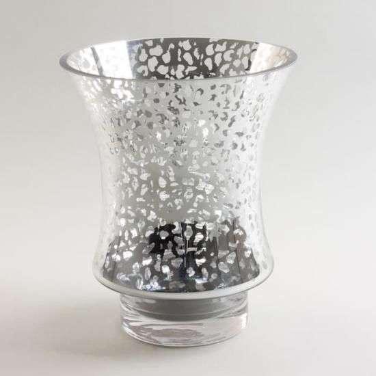Lanterne - vase argenté