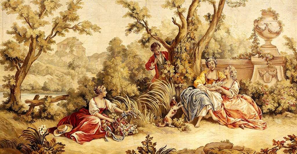 Découvrez la tapisserie d'Aubusson et son histoire. Ici, détail d'une tapisserie d'Aubusson. © DP
