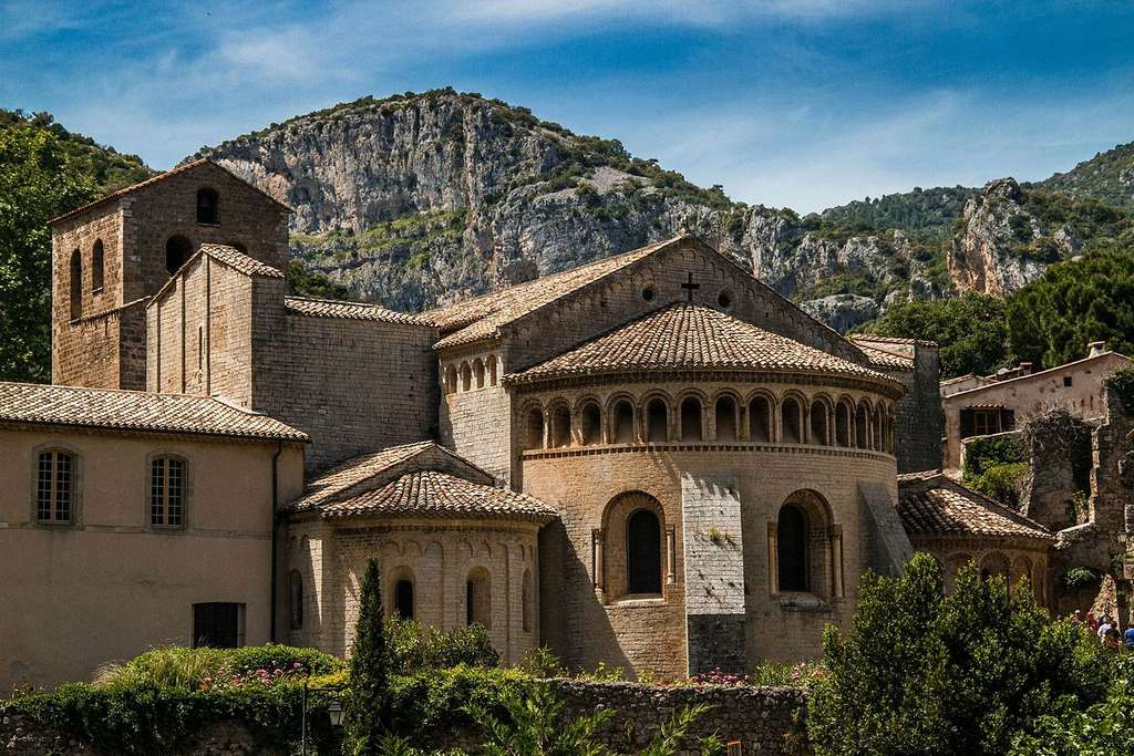 L'abbaye de Gellone, à Saint-Guilhem-le-Désert. © Wikinicoj, CC by-sa 3.0