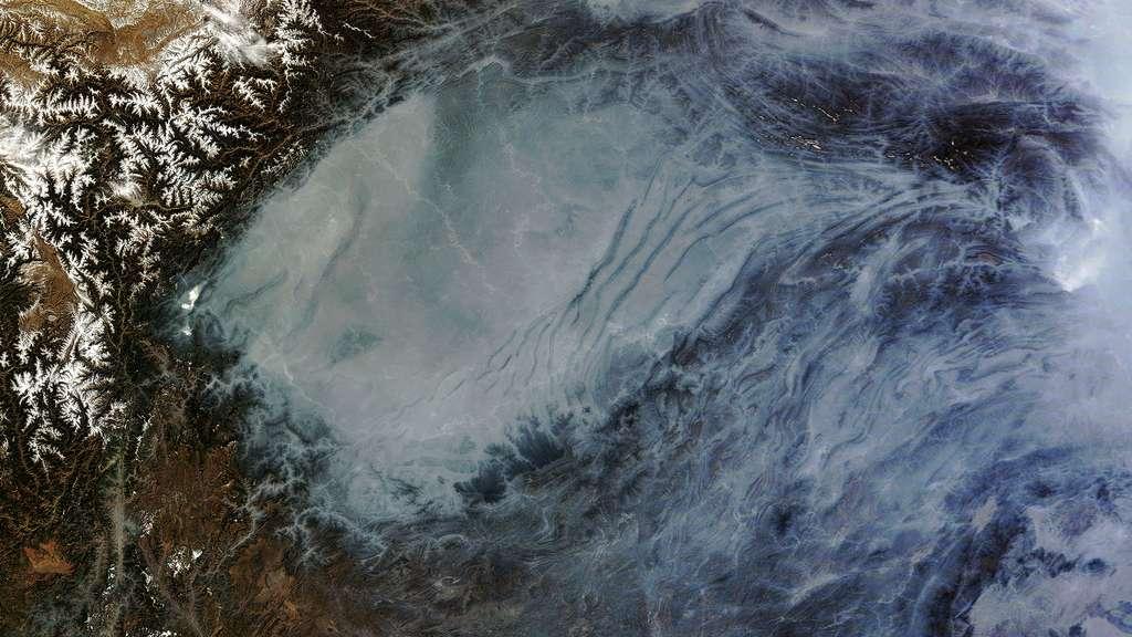 Smog sur le bassin du Sichuan en Chine