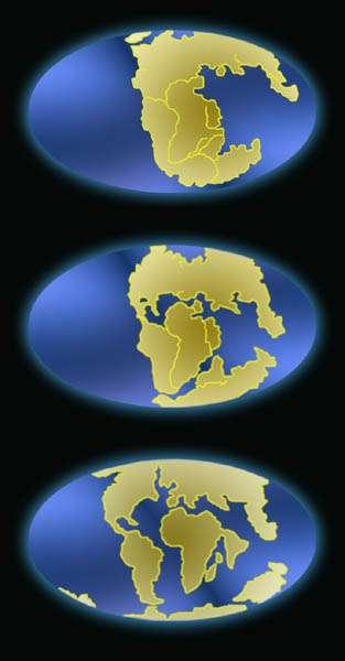 La dérive des continents. © planete-environnement.cned.fr/BRGM
