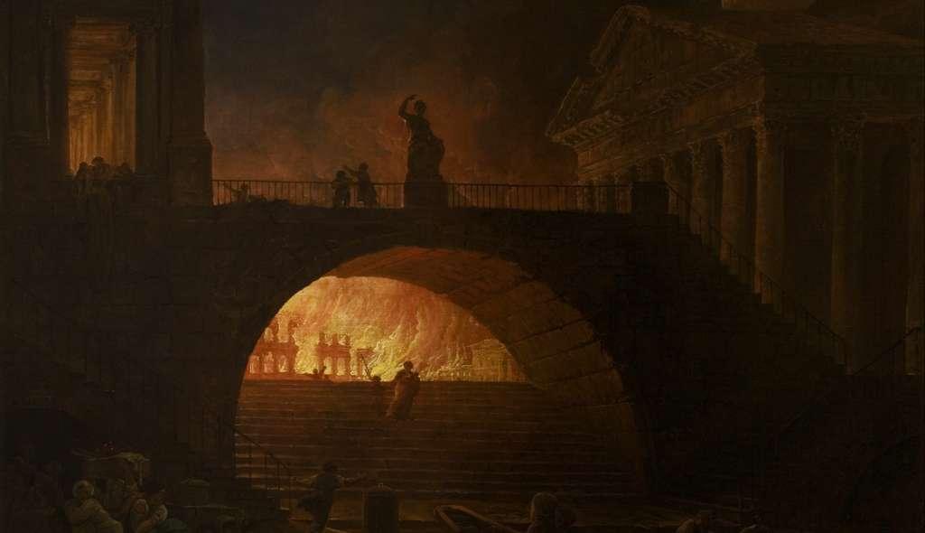 L'incendie de Rome, par Hubert Robert (1733-1808). © DP