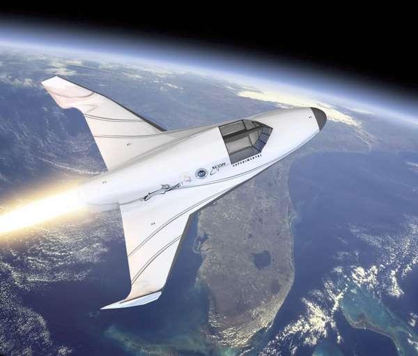 Le Lynx de XCor, conçu pour un pilote et un passager, pourrait bien damer le pion à Virgin Galactic et devenir le premier avion spatial touristique. Affaire à suivre. © Xcor Aerospace