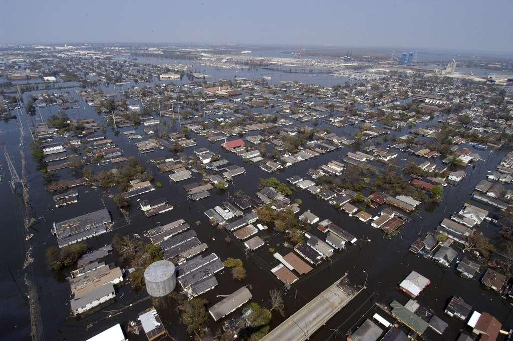 Inondations à la Nouvelle-Orléans après l'ouragan Katrina en 2005. © UNSW