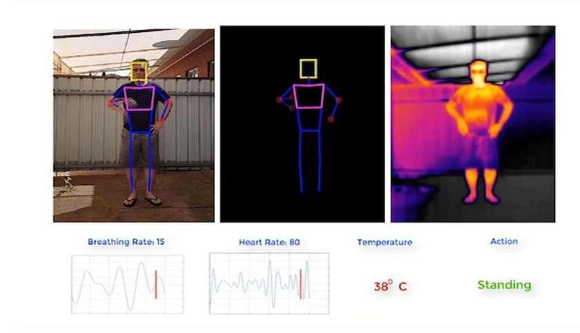 Le drone peut détecter la température, le rythme cardiaque et respiratoire © University of South Australia