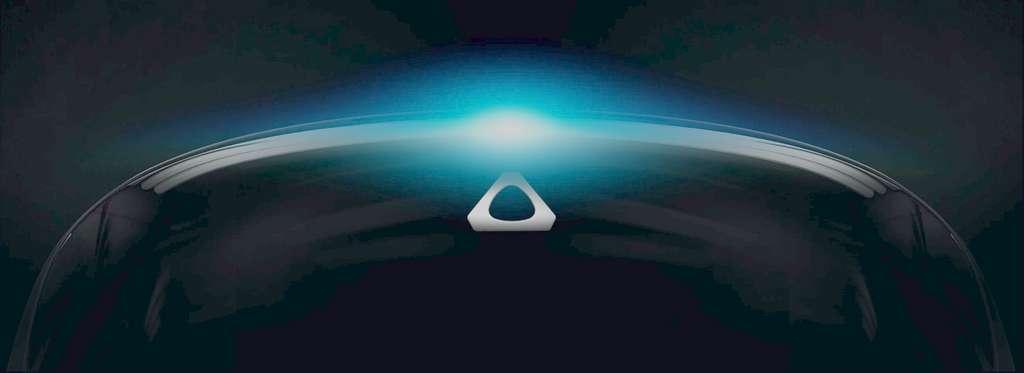 HTC a caché les contours de son prochain casque de réalité virtuelle dans l'image utilisée pour la Vivecon. © HTC