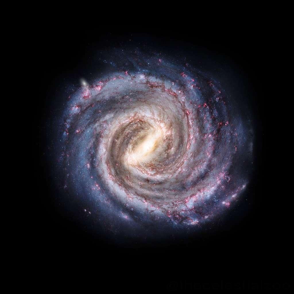 Une vue d'artiste de la Voie lactée si l'on pouvait s'en extraire. © Pablo Carlos Budassi