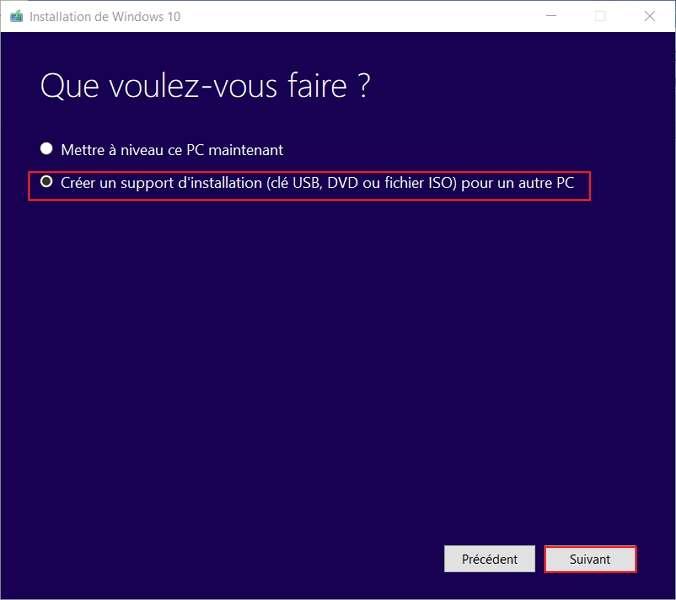 Choisir la deuxième option. © Microsoft