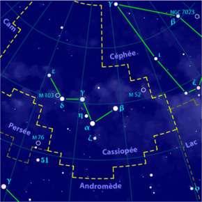 Constellation de Cassiopée.