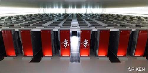 Mis en service en 2011, le supercalculateur Fujitsu K était alors le plus puissant au monde. Il est actuellement quatrième au classement Top500. © Fujitsu, Riken