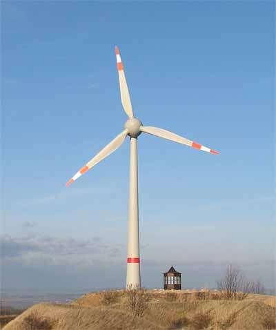 Goliath, avec son rotor de 112 mètres de diamètre (d'où son nom, E112). Crédit Enercon