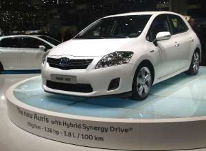 Toyota Auris HSD, berline hybride affichant 89 g de CO2/km. © Relaxnews