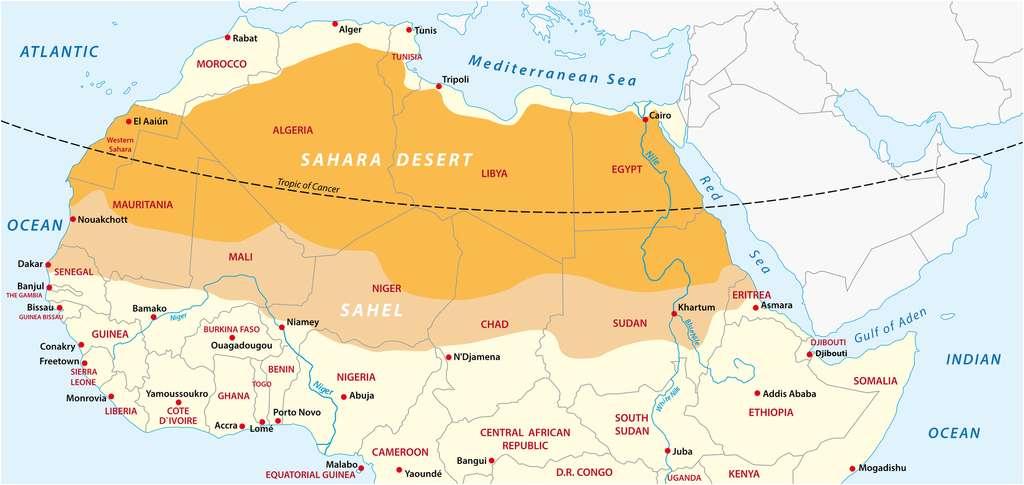 Vaste bande de terre semi-aride au sud du Sahara, le Sahel a connu deux décennies de sécheresse historique dans les années 1970 et 1980. © lesniewski, Fotolia
