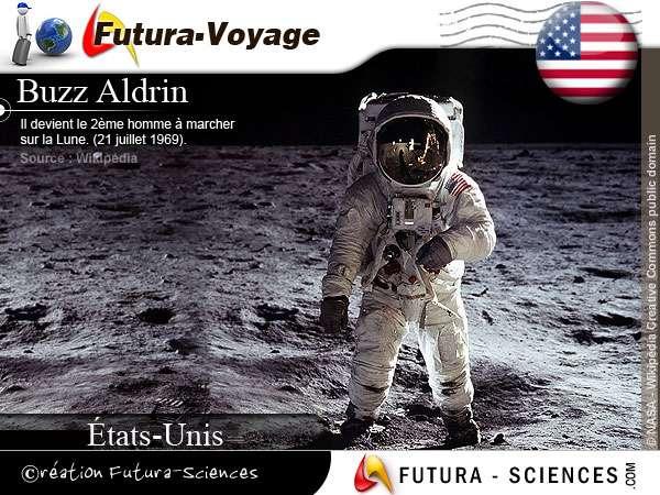 Buzz Aldrin marche sur la Lune
