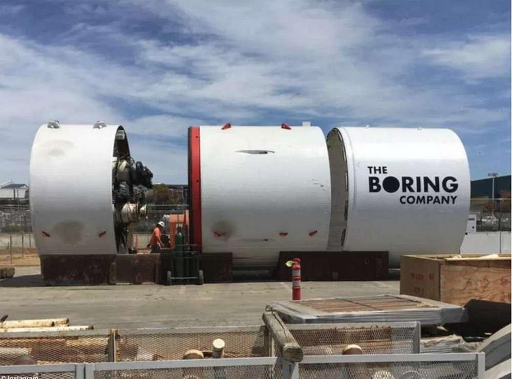 Le tunnelier de l'entreprise créé par Elon Musk a été baptisé Godot. © The Boring Company