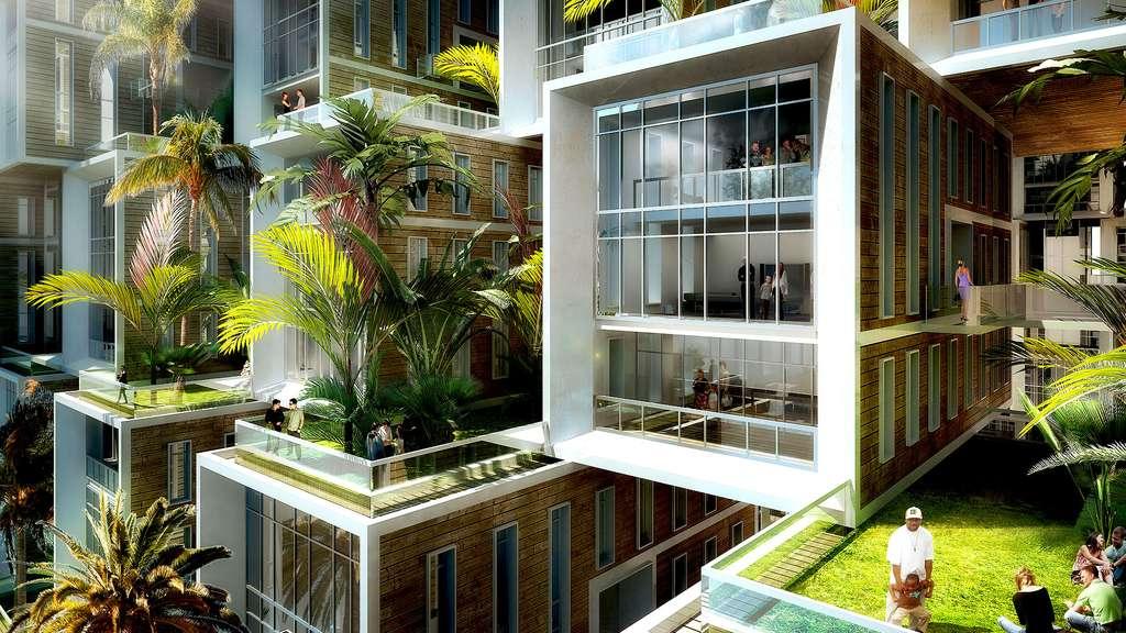Coral Reef : des logements modulaires mais aux points de vue multiples