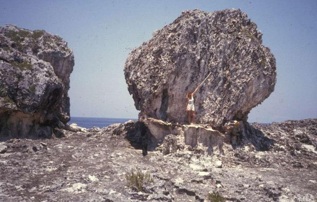 Ces blocs de pierre agglutinés datent de l'Éémien et ont été transportés par les vagues. Ce genre d'observation donne des indications sur la puissance des tempêtes des époques anciennes. © Hansen et al.