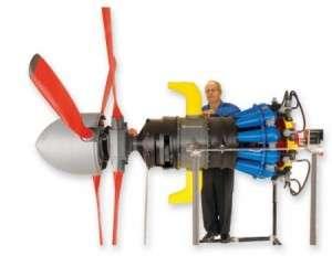Impression 3D grand format : le moteur d'un avion. © Stratasys