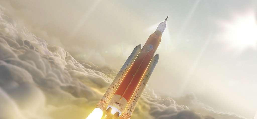 En construction, SLS sera le lanceur lourd le plus puissant de tous les temps. © Nasa