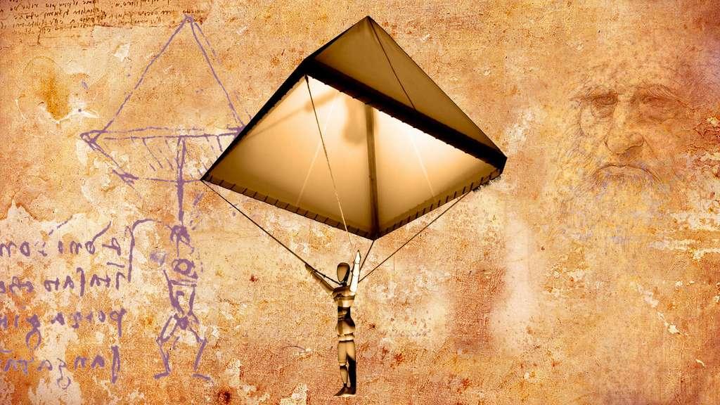 Léonard de Vinci, un des pionniers du parachute