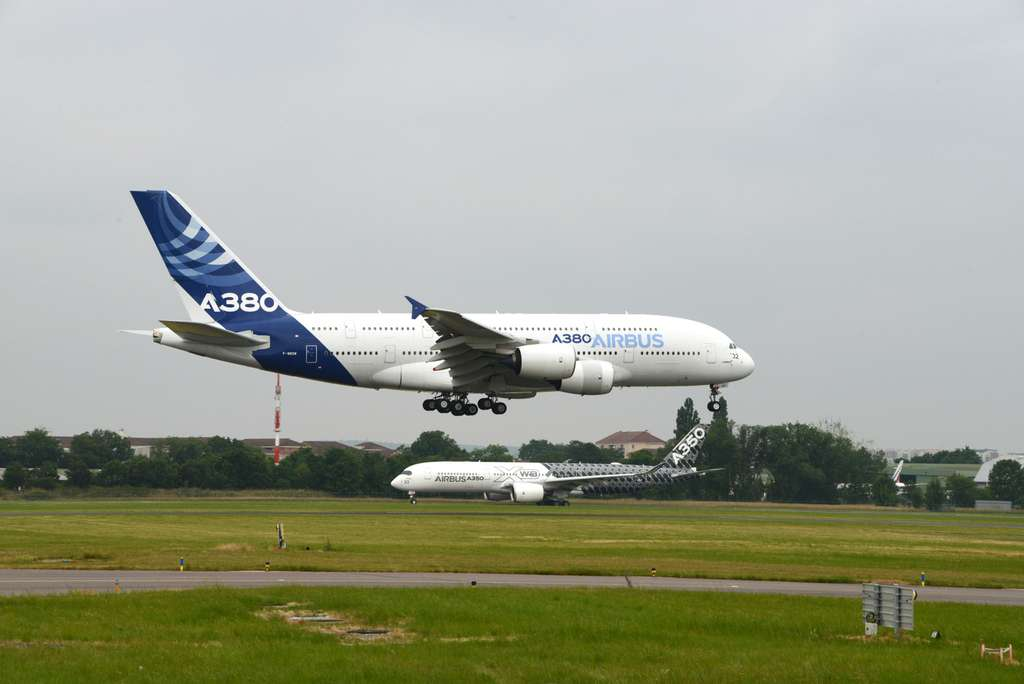 L'A380 en plein atterrissage