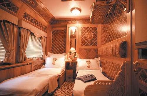 Confort à l'intérieur d'une cabine de luxe du Pullman. © Train Chartering and Private Rails cars, Flickr, CC by-nc-sa 2.0