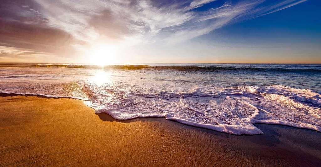Coucher de soleil aux Caraïbes. © Tpsdave, DP