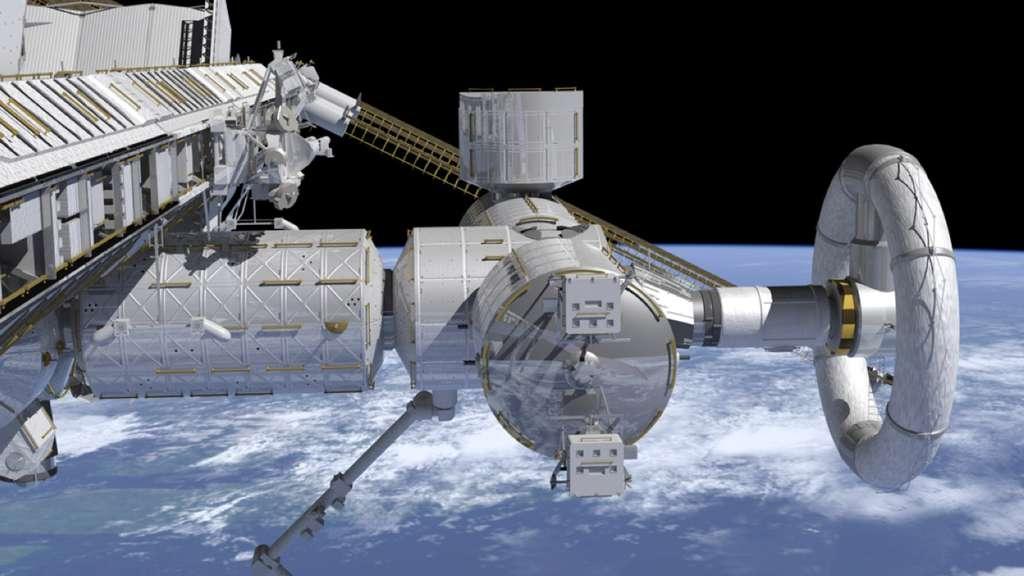 La Station spatiale pourrait être utilisée pour tester en conditions réelles une centrifugeuse. L'idée est de voir si elle apporte un plus sur la santé physique des astronautes qui l'utiliseraient de façon régulière. © M. L. Holderman/JSC/SSP