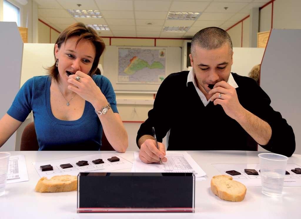 Séance de dégustation de chocolat. © Valrhona