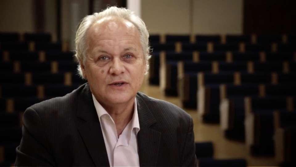 Jean-Pierre Luminet lors d'une intervention au Collège de France. © Collège de France