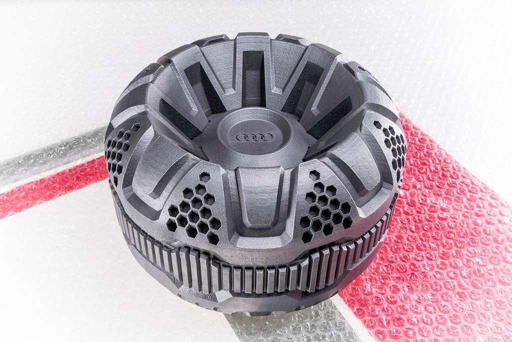 Les roues du rover lunaire d'Audi seront fabriquées par impression 3D et de forme inédite. © Audi, Part-Time-Scientists