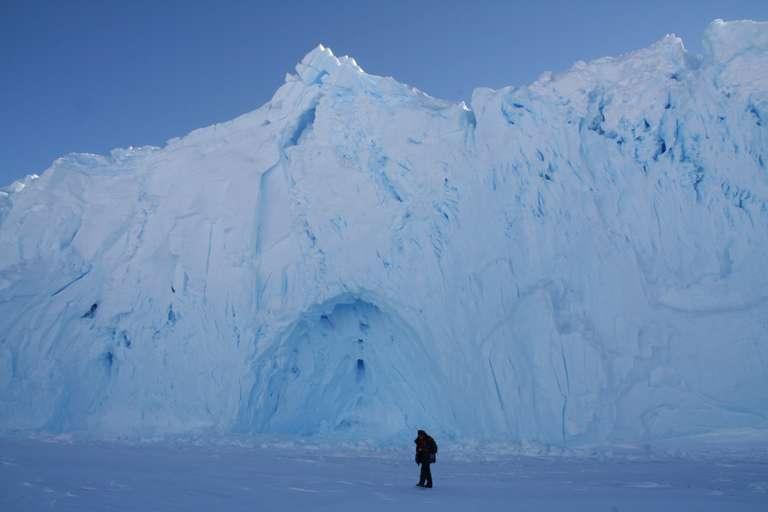 Falaise de glace en novembre