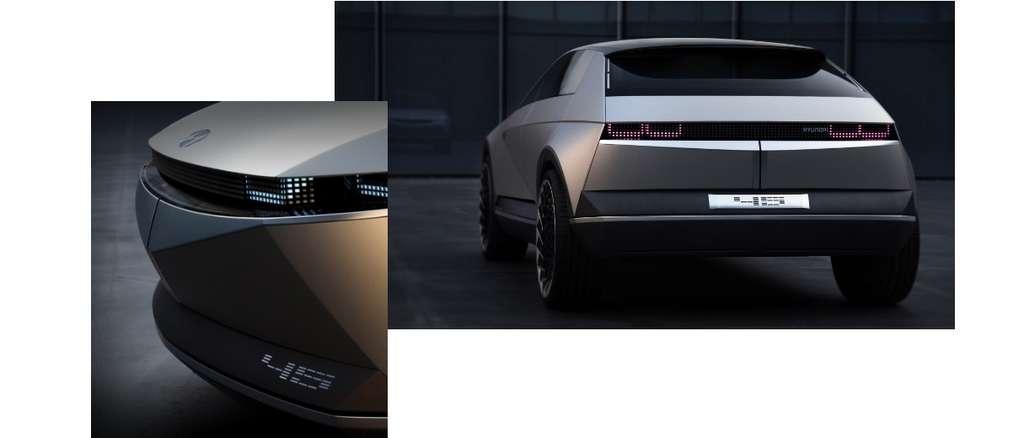 Le concept-car EV 45 sur lequel sera basée le futur SUV compact Ioniq 5 qui arrivera en 2021. © Hyundai
