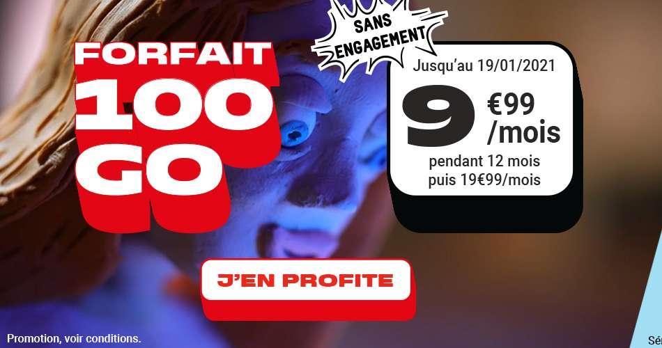 Forfait 100Go à seulement 9.99€ / mois © NRJ Mobile