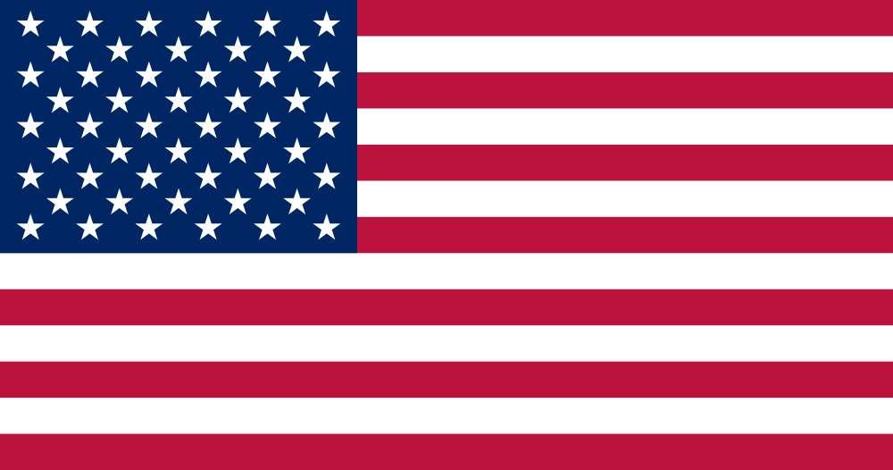 Le drapeau américain. Les 13 bandes représentent les colonies britanniques sécessionnistes à l'origine de la création de l'État américain. Il y a autant d'étoiles que d'États fédérés (50 actuellement). © Wikimedia Commons, DP